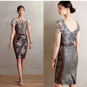 Beguile by Byron Lars embroidered brocade dress